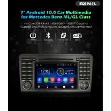 """TM5961L 7"""" Navigatie Android 10 CarDVD Mercedes Benz ML/GL Class W164"""